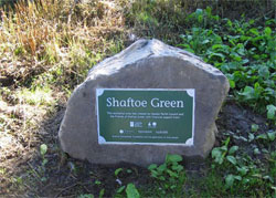 Photograph of Shaftoe Green sign
